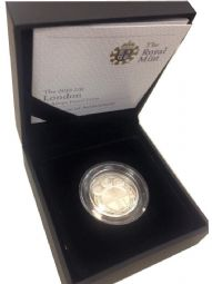 2010 Silver Proof One Pound Coin - London for sale